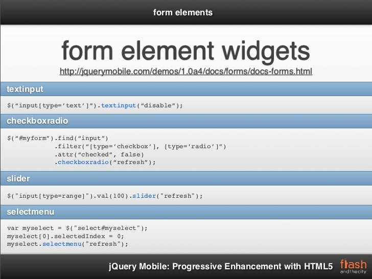 Jquery mobile progressive enhancement with html5 - Jquery refresh div ...