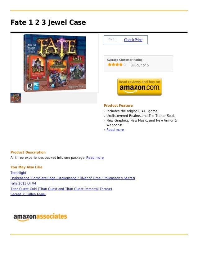 Fate 1 2 3 Jewel Case                                                                Price :                              ...