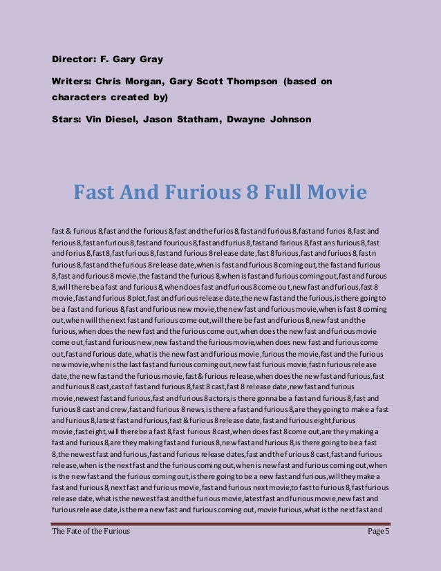 watch fast and furious 8 cast and crew full movie. Black Bedroom Furniture Sets. Home Design Ideas