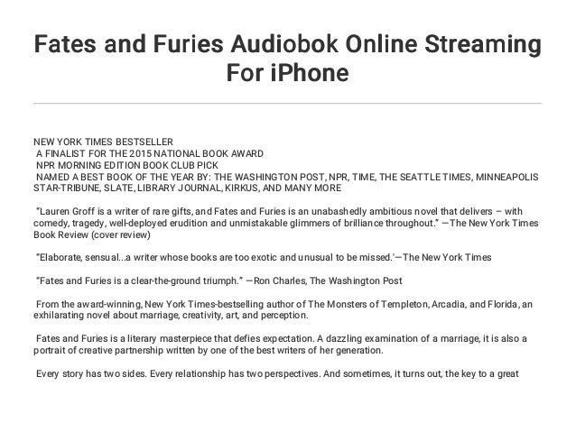 Fates And Furies Audiobok Online Streaming For Iphone