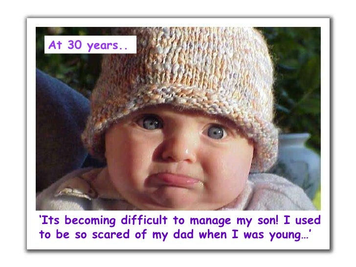 ' Its becoming difficult to manage my son! I used to be so scared of my dad when I was young…' At 30 years..