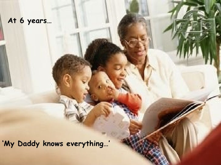 ' My Daddy knows everything…' At 6 years…