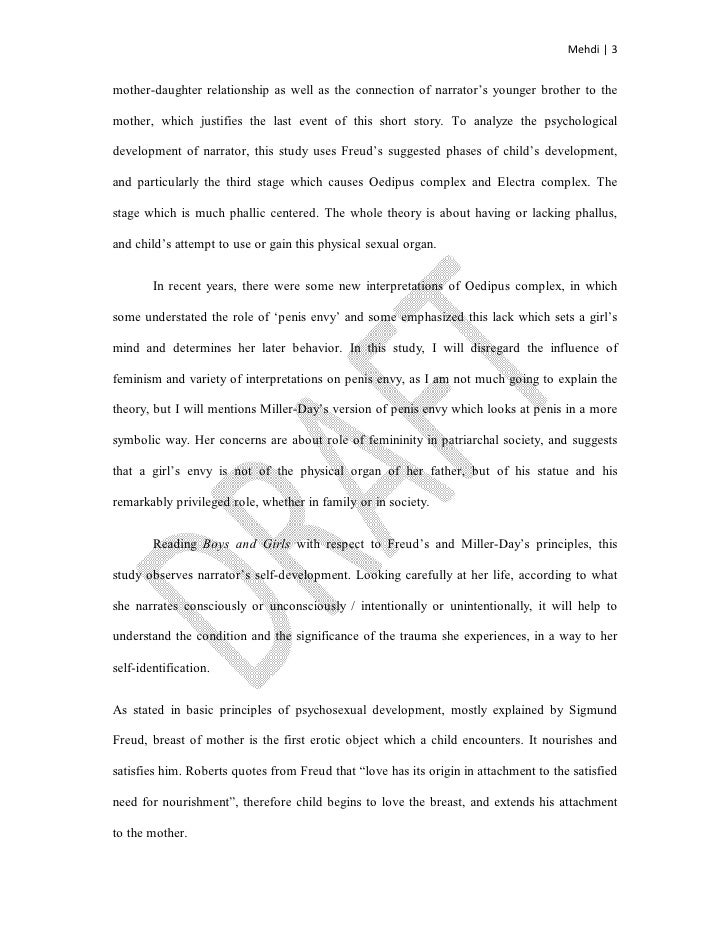 Fatherdaughter Relationship And Identity In Munros Boys And Girls    Mehdi   Motherdaughter Relationship  Research Essay Topics For High School Students also Best Place To Buy Book Reports Online  High School Narrative Essay