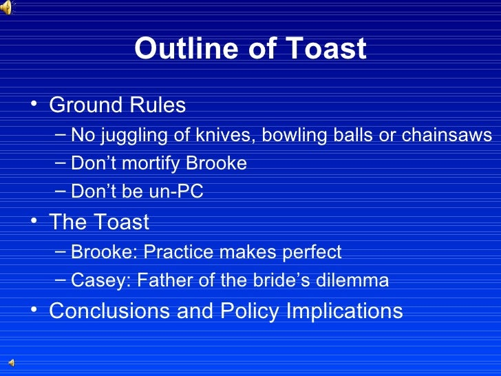 4 Outline Of Toast