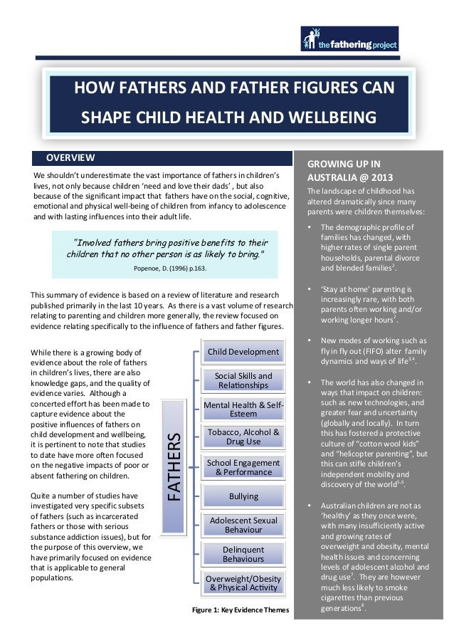 HOW	   FATHERS	   AND	   FATHER	   FIGURES	   CAN	    SHAPE	   CHILD	   HEALTH	   AND	   WELLBEING	    OVERVIE...