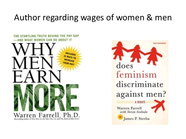 Author regarding wages of women & men