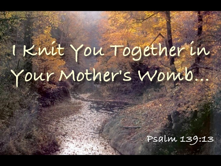 Image result for i knit you together in your mother's womb