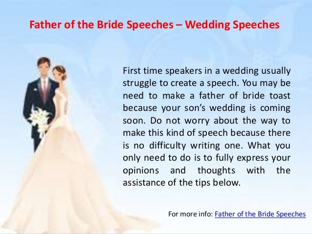 Wedding Day Speeches Father Of The Bride: Father Of The Bride Speeches