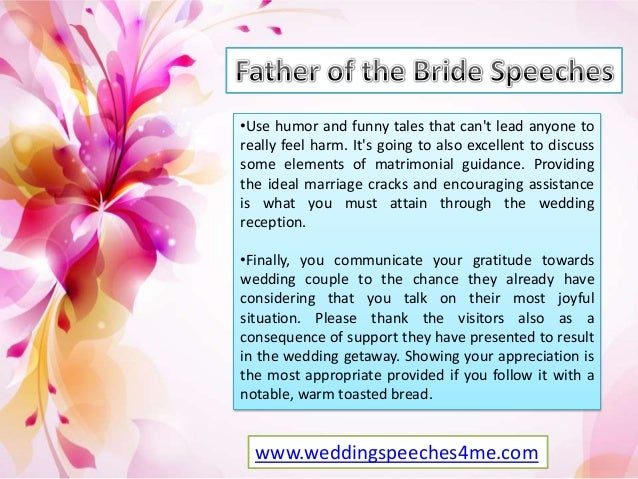Father Of Bride Speeches