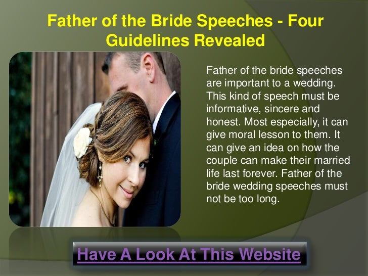 Father Of The Bride Speeches Important Guidelines Revealed
