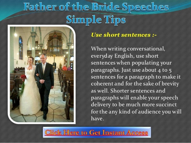 Father Of The Bride Speeches Simple Tips