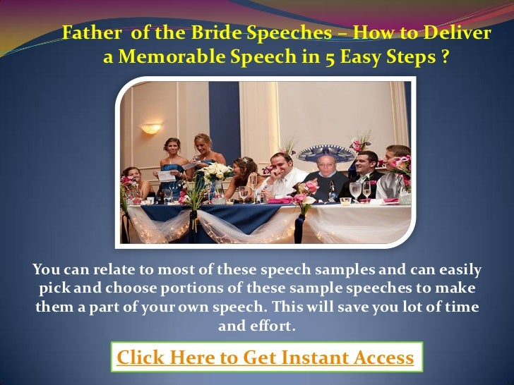 Father Of The Bride Speeches How To Deliver A Memorable