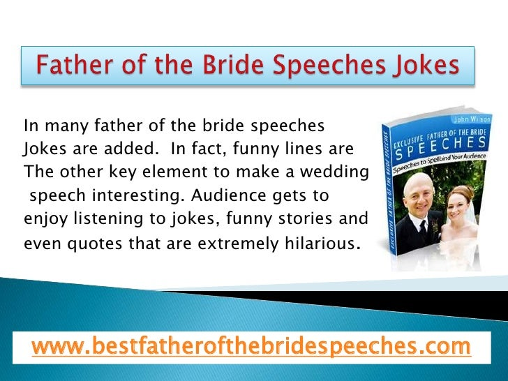 Father Of The Bride Speech Content: Father Of The Bride Speeches Jokes