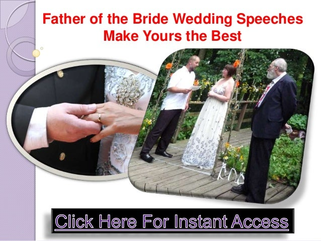 Father Of The Bride Wedding Speeches: Father Of The Bride Wedding Speeches