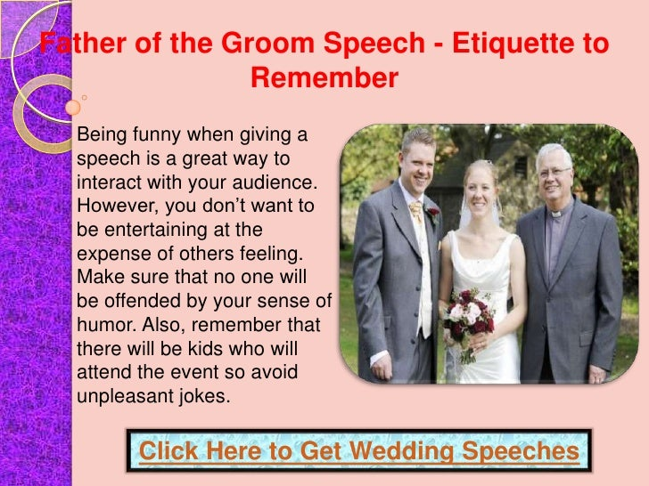 father of the groom speech funny