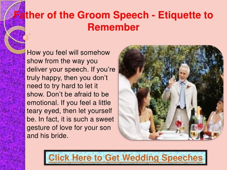 Father Of The Groom Speech Etiquette To Remember