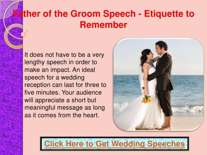 Help Wedding Speech Etiquette Order