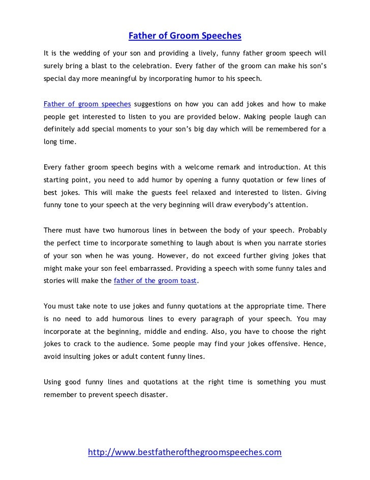 Father of Groom Speech – 4 Steps to Create a Wonderful Speech
