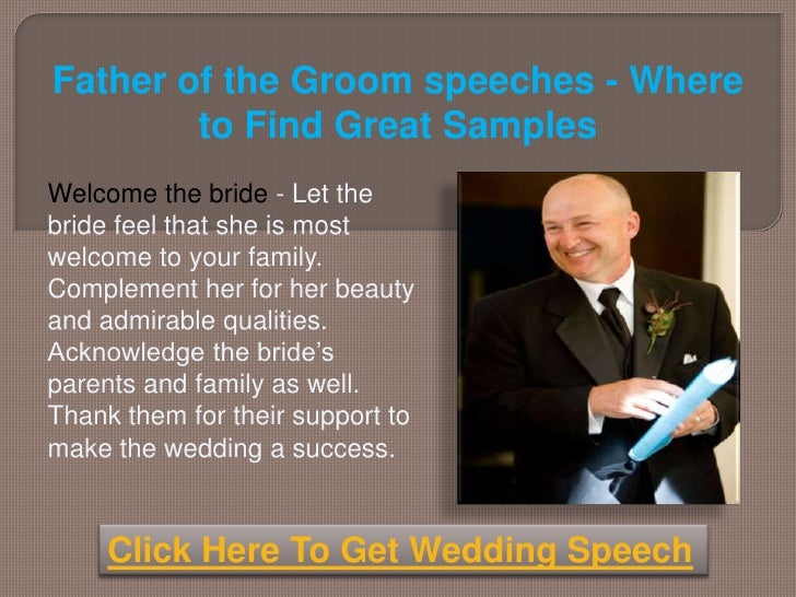 Father Of The Groom Speeches Where To Find Great Samples