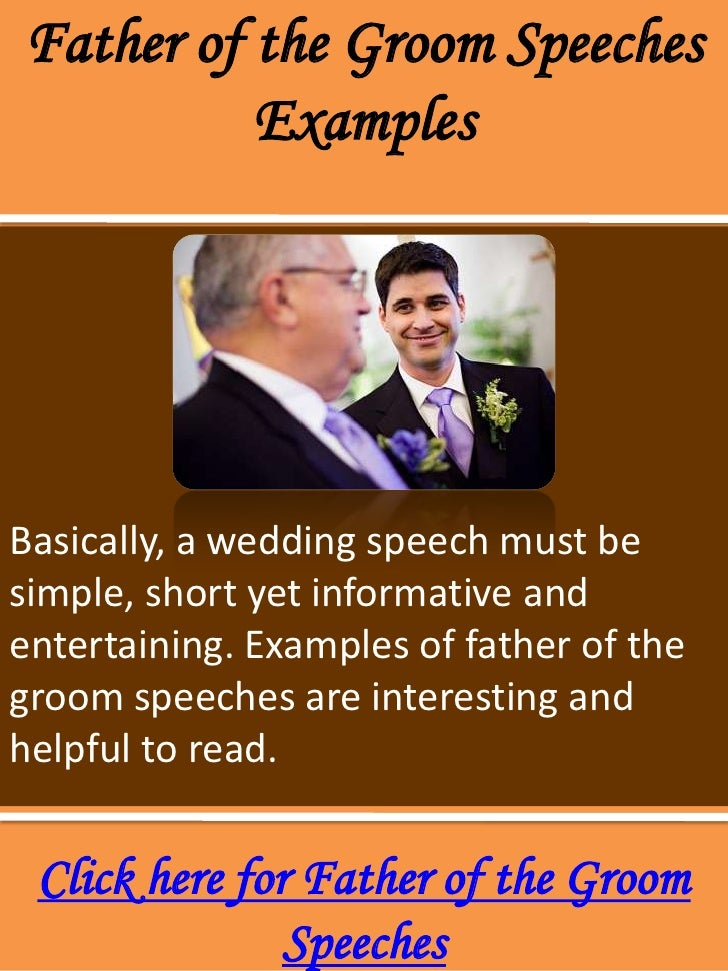 how to write a wedding speech father of the groom