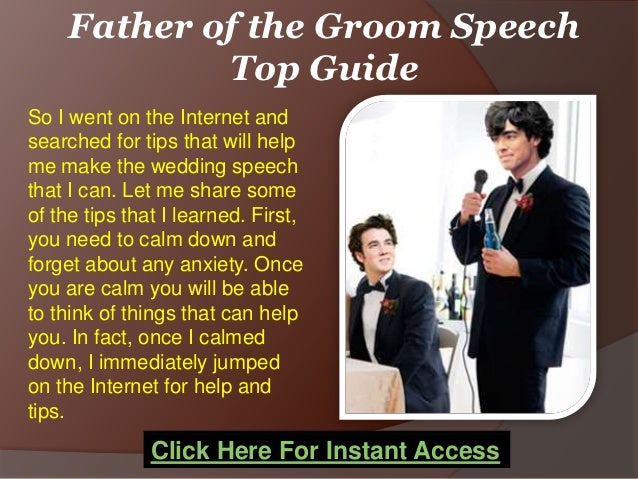 Father Of The Groom Speech Top Guide