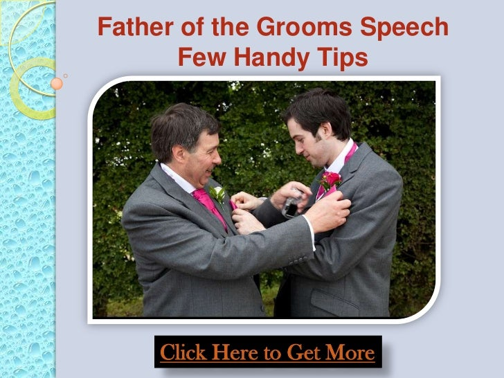 Father of the grooms speech few handy tips