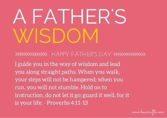 Father's Day Biblical Verses