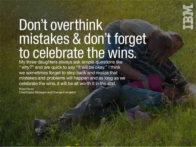 Brian Fanzo Chief Digital Strategist and Change Evangelist Don't overthink mistakes & don't forget to celebrate the wins.M...