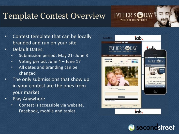 How To Sell A Fathers Day Contest - Photo contest website template