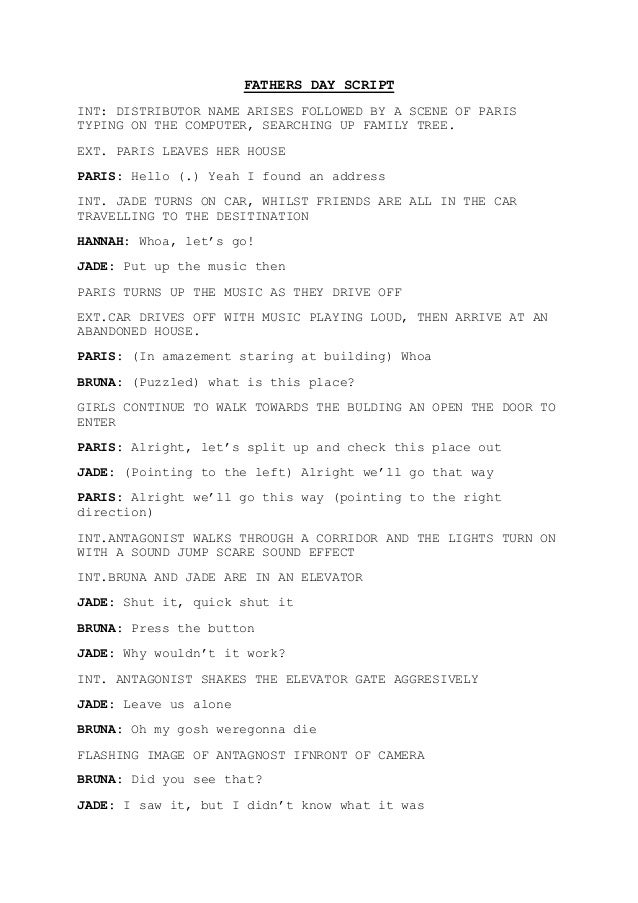 Fathers day script
