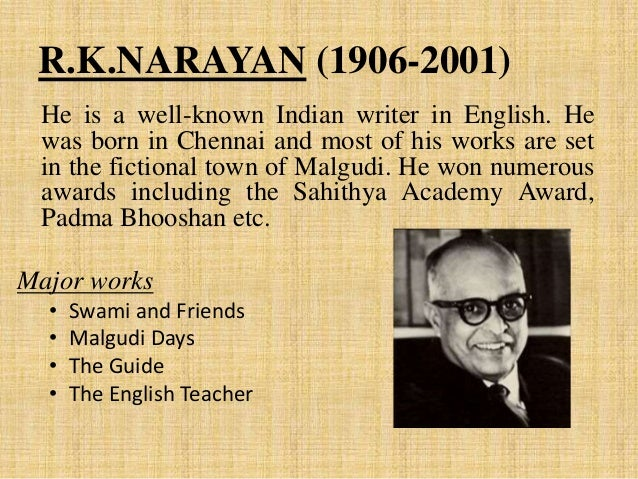 portrayal life india malgudi days r k narayan Salt and sawdust, r k narayan  r k narayan is one of the famous writers of india writing in english  malgudi days • under the banyan.