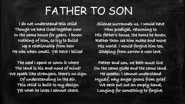 father son love poems