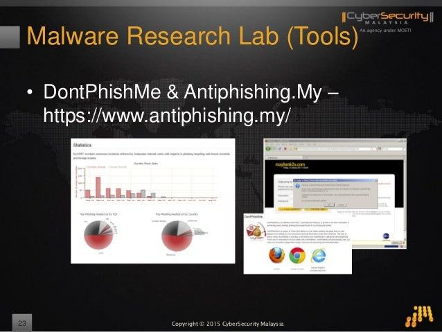 Copyright © 2015 CyberSecurity Malaysia Malware Research Lab (Tools) • DontPhishMe & Antiphishing.My – https://www.antiphi...
