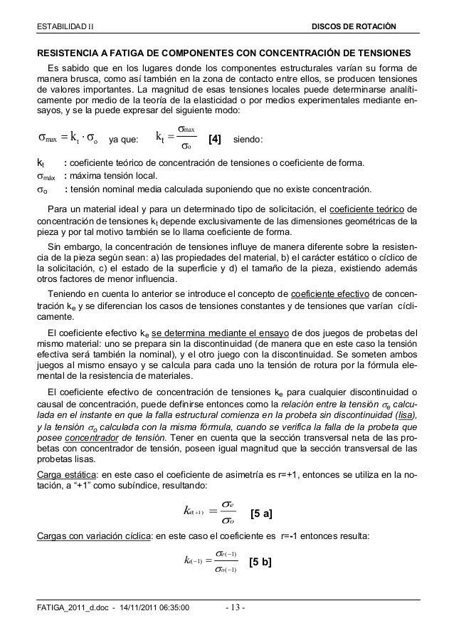 ESTABILIDAD  DISCOS DE ROTACIÓN FATIGA_2011_d.doc - 14/11/2011 06:35:00 - 13 - RESISTENCIA A FATIGA DE COMPONENTES CON C...