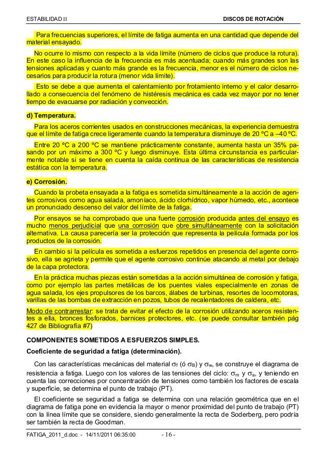 ESTABILIDAD  DISCOS DE ROTACIÓN FATIGA_2011_d.doc - 14/11/2011 06:35:00 - 16 - Para frecuencias superiores, el límite de...