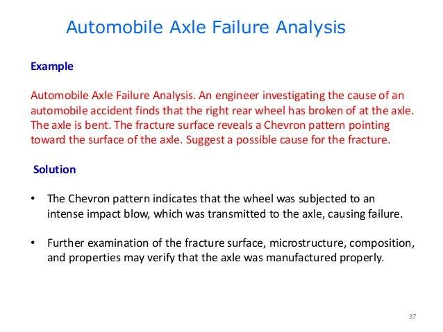 Fracture Mechanics & Failure Analysis: Lecture Fatigue