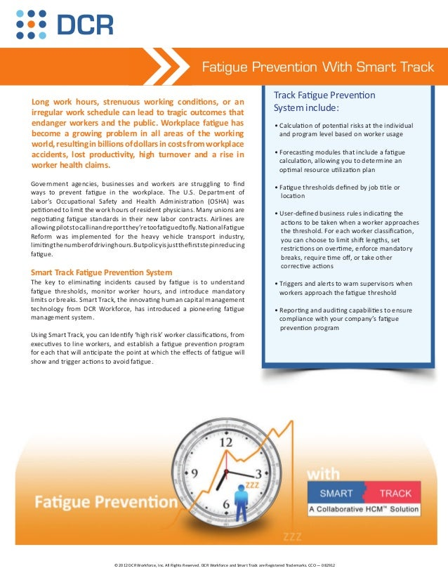 Fatigue Prevention With Smart Track                                                                                       ...