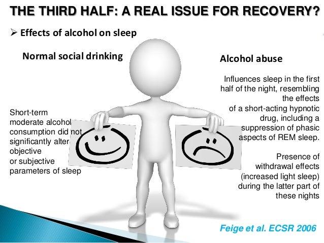 alcohol recovery fatigue