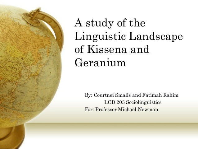 A study of the Linguistic Landscape of Kissena and Geranium By: Courtnei Smalls and Fatimah Rahim LCD 205 Sociolinguistics...