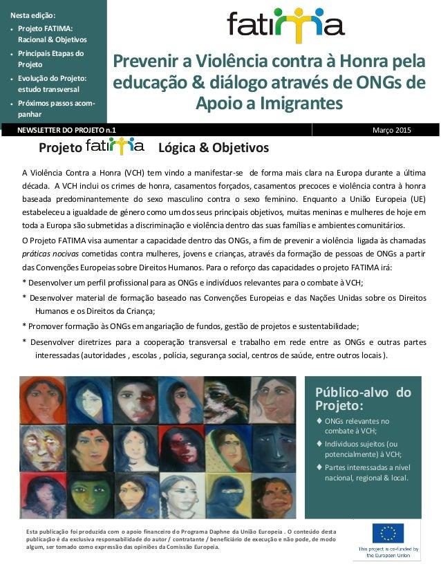 Prevenir a Violência contra à Honra pela educação & diálogo através de ONGs de Apoio a Imigrantes Nesta edição:  Projeto ...