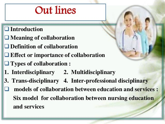 Collaborative Teaching Define ~ Collaboration between services and education