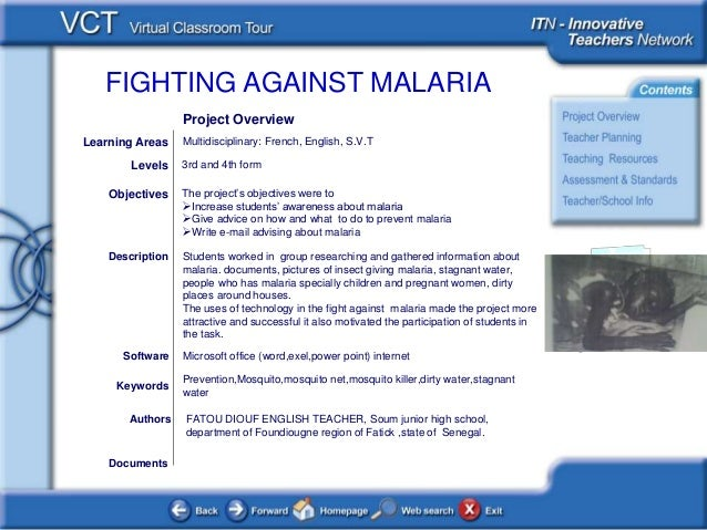 FIGHTING AGAINST MALARIA <This picture should illustrate the subject of your Classroom Learning Resource> Documents Author...