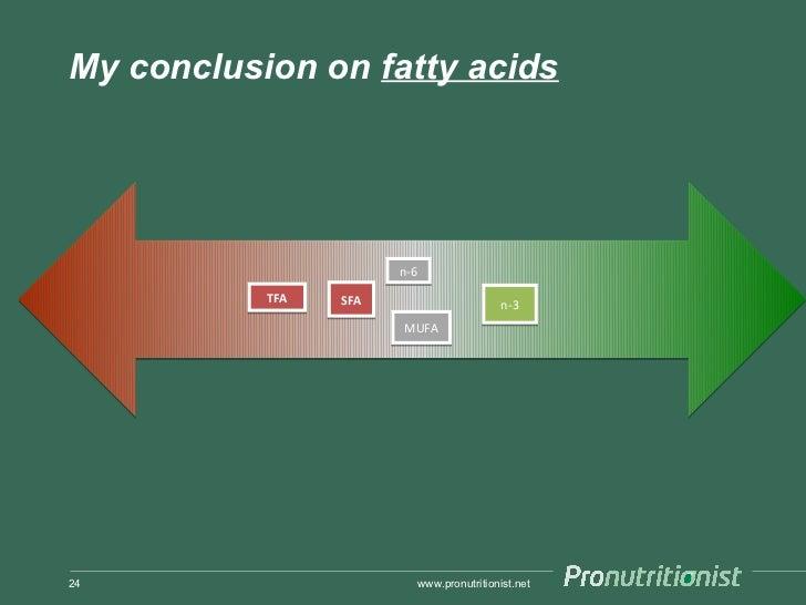 My conclusion on fatty acids                       n-6           TFA   SFA                          n-3                   ...