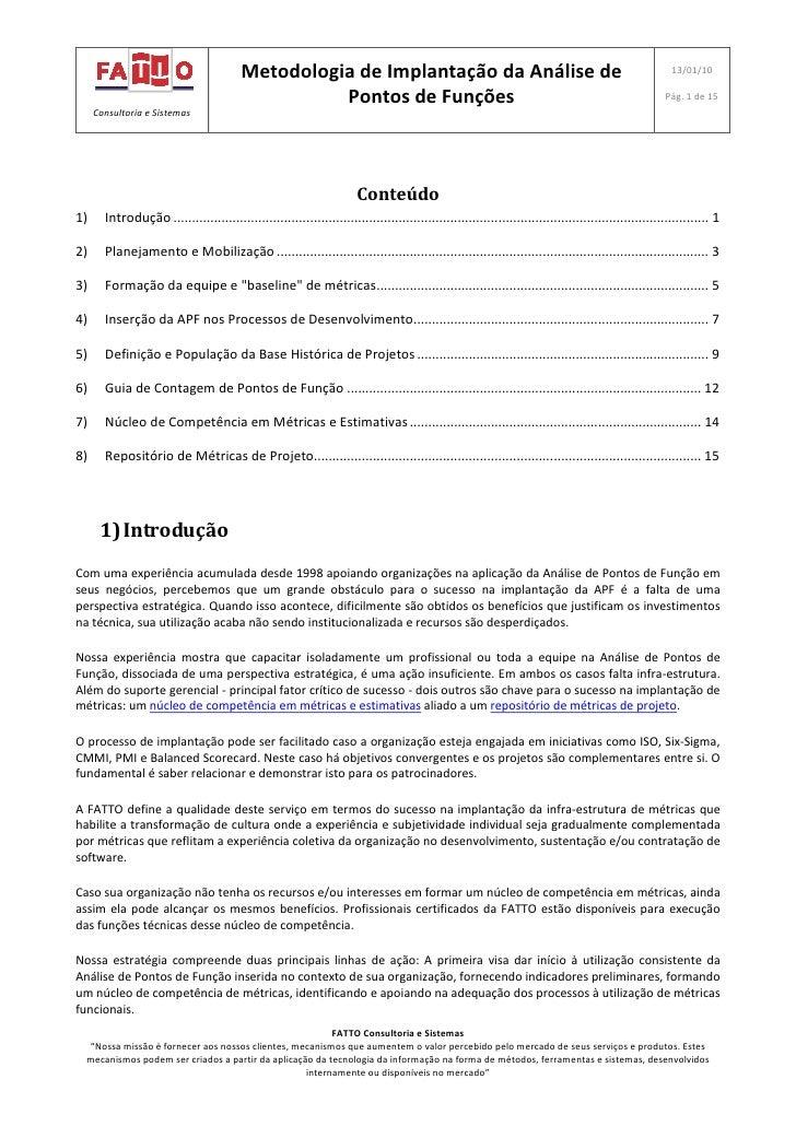 Metodologia de Implantação da Análise de                                                                       13/01/10   ...