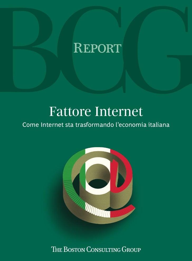 Report         Fattore InternetCome Internet sta trasformando l'economia italiana
