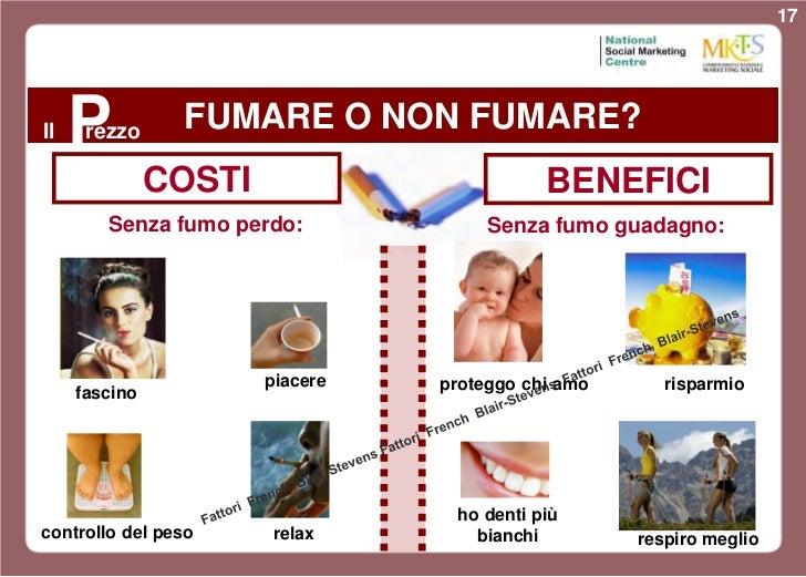 17Il   Prezzo     FUMARE O NON FUMARE?               COSTI                        BENEFICI        Senza fumo perdo:       ...