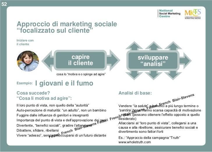 """52     Approccio di marketing sociale     """"focalizzato sul cliente""""     Iniziare con     il cliente                       ..."""