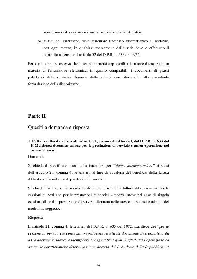 Fattura elettronica circolare agenzia delle entrate for Accesso agenzia entrate