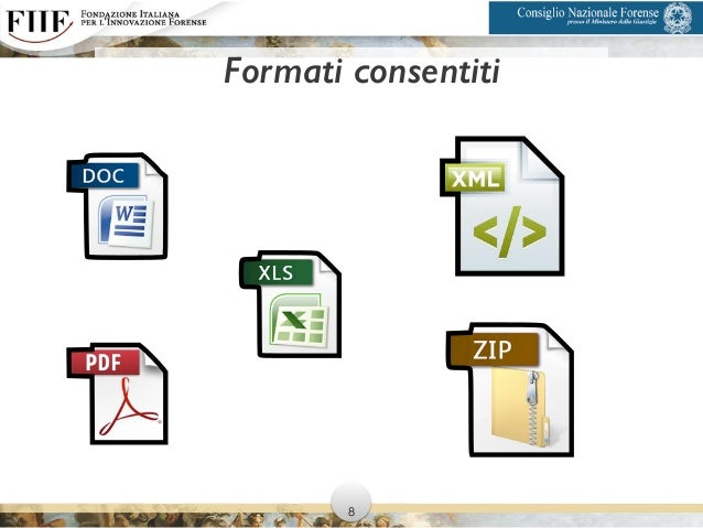 Formati consentiti 8