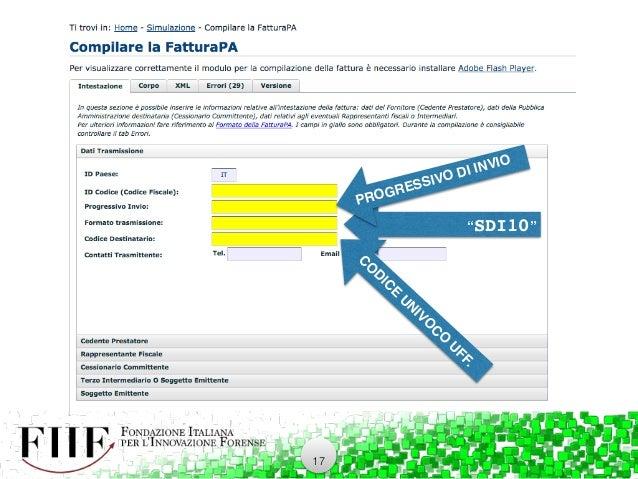 Fatturazione elettronica per avvocati fiif for Codice univoco per fatturazione elettronica